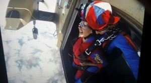 Michelle Manning's Skydive at the door of plane