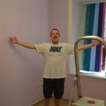 volunteer in a refurbished room project