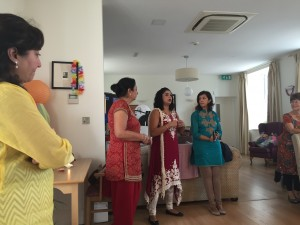Diwali Party 2015 photo of lady giving a talk